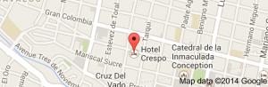 HOTEL CRESPO MAP
