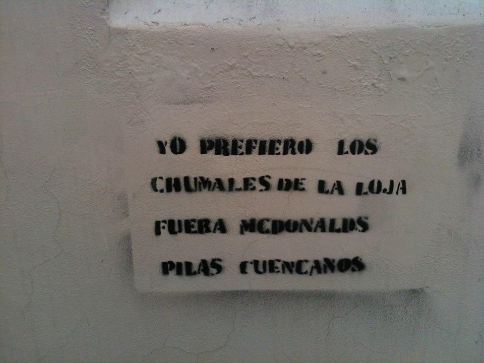 Anti McDonalds Grafitti Cuenca Ecuador