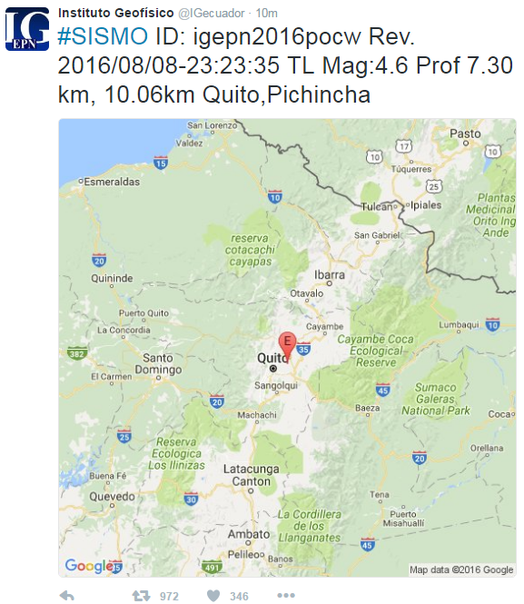QUITO EARTHQUAKE