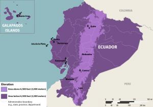 Elevation Map Ecuador